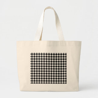 Black and White Gingham Checks Jumbo Tote Bag
