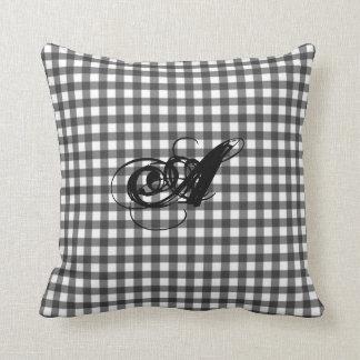 Black And White Gingham Cushion