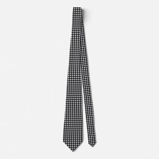 Black and White Gingham Customizable Tie