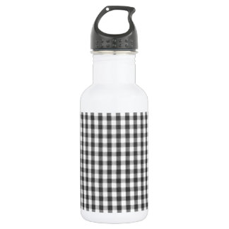 Black and white gingham pattern 532 ml water bottle