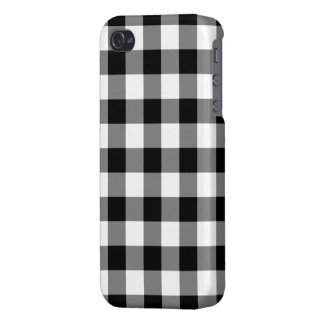 Black and White Gingham Pattern Cases For iPhone 4
