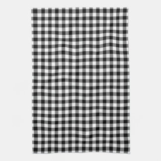 Black and White Gingham Pattern Kitchen Towels