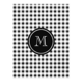 Black and White Gingham, Your Monogram 21.5 Cm X 28 Cm Flyer