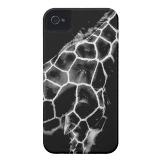 Black and White Giraffe iPhone 4 Case-Mate Cases