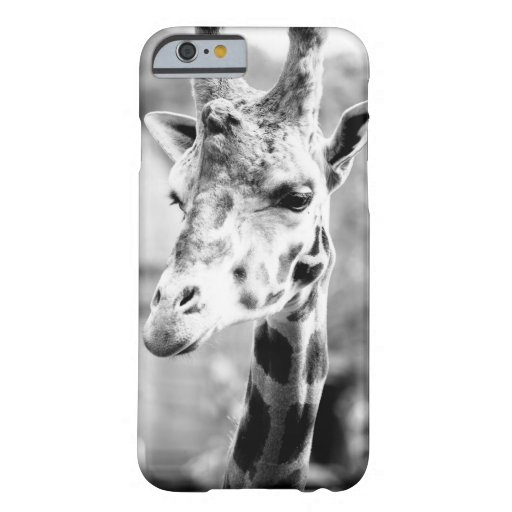 Black and White Giraffe Portrait Photography iPhone 6 Case