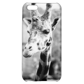 Black and White Giraffe Portrait Photography Case For iPhone 5C