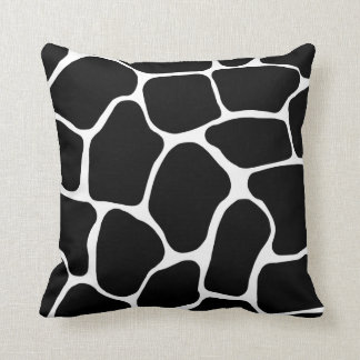 Black and White Giraffe Print American MoJo Pillow