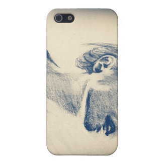 Black and White Girl Sketch iPhone 5 Covers