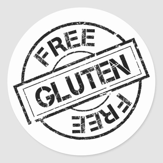 Black and White Gluten Free Stickers