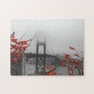 Black and White Golden Gate Bridge Jigsaw Puzzle