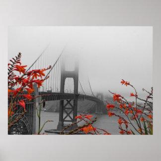 Black and White Golden Gate Bridge Poster