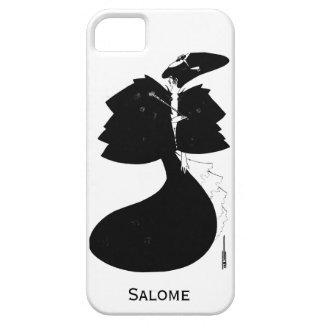 Black and white goth gothic art nouveau Salome iPhone 5 Case