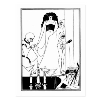 Black and white goth gothic art nouveau Salome Postcard