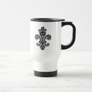 Black and White Goth Stainless Steel Travel Mug