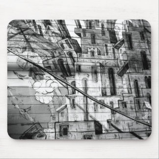 Black and White Graffiti in San Francisco Mouse Pad
