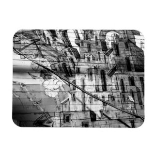 Black and White Graffiti in San Francisco Rectangular Photo Magnet