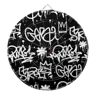 Black and White Graffiti pattern Dartboard