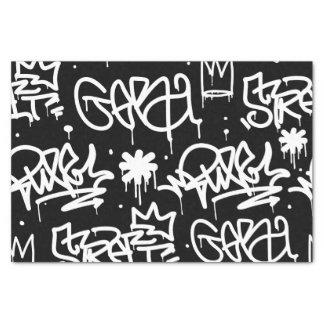 Black and White Graffiti pattern Tissue Paper