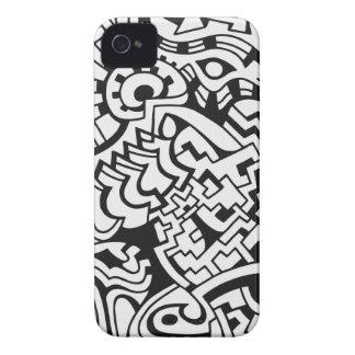 Black and white graffiti street art iPhone 4 Case-Mate cases