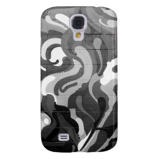 Black and White Graffiti Swirl Pattern in San Fran Galaxy S4 Case