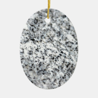 Black and White Granite Rock Christmas Ornament