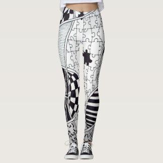 Black and White Graphic Design Leggings