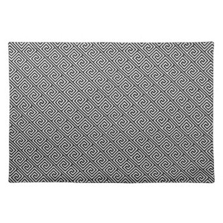 Black and White Greek Key Pattern Placemat