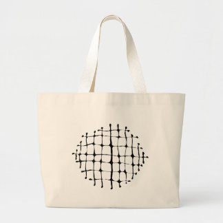 Black and White Grid Burst Canvas Bag