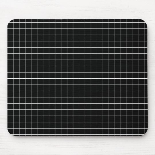 BLACK AND WHITE GRID MOUSE MAT
