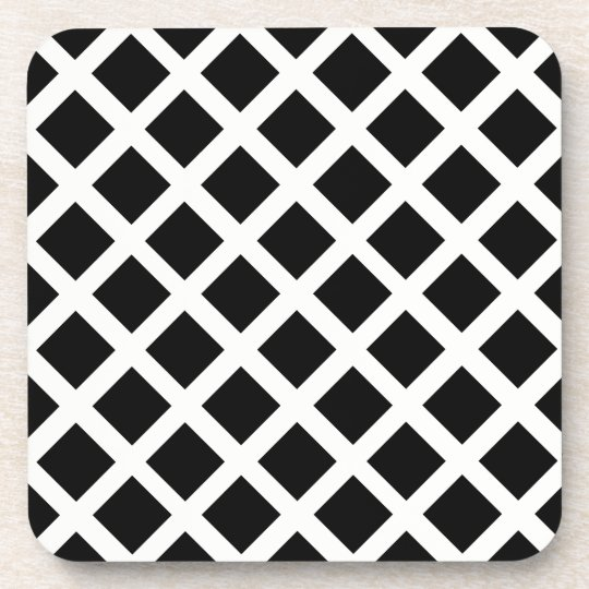 Black And White Grid Optical Illusion Pattern Beverage