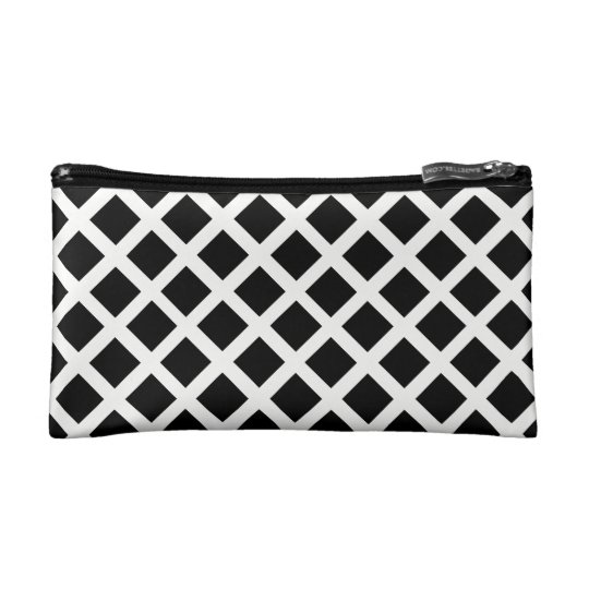 Black And White Grid Optical Illusion Pattern Cosmetic