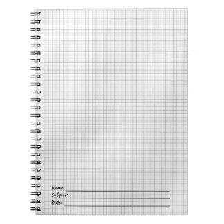 Black and White Grid Pattern on Paper Notebook