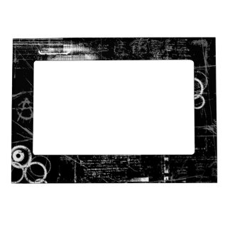Black and White Grunge 5x7 Magnetic Frame