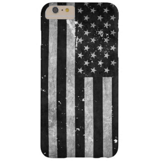 Black and White Grunge American Flag Barely There iPhone 6 Plus Case