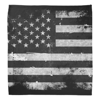 Black and White Grunge American Flag Do-rag