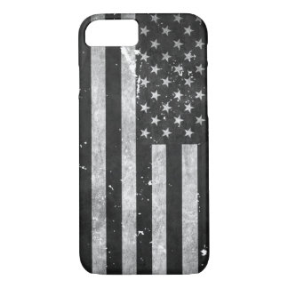Black and White Grunge American Flag iPhone 8/7 Case