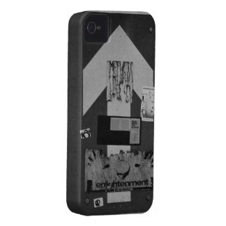 Black and white grunge arrow road sign iPhone case
