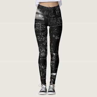 Black and White Grunge Leggings