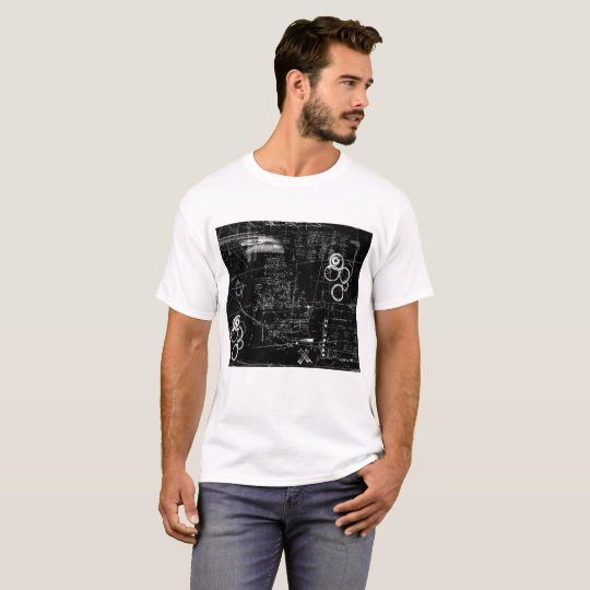 Black and White Grunge Men's Basic T-Shirt
