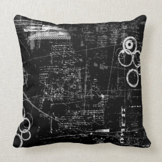 Black and White Grunge Pillow