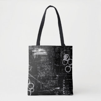 Black and White Grunge Tote Bag