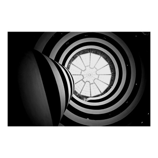 Black And White Guggenheim Photograph Poster