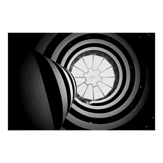 Black And White Guggenheim Photograph Poster