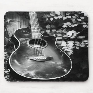 Black and White Guitar mousepad