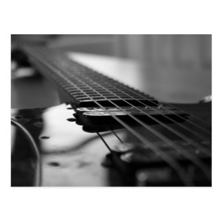 Black and White Guitar Postcard