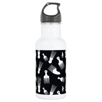 Black and white hair fashion 532 ml water bottle