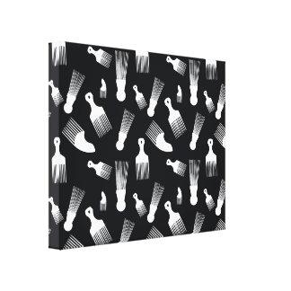 Black and white hair fashion canvas print