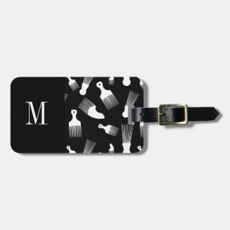 Black and white hair fashion tags for bags