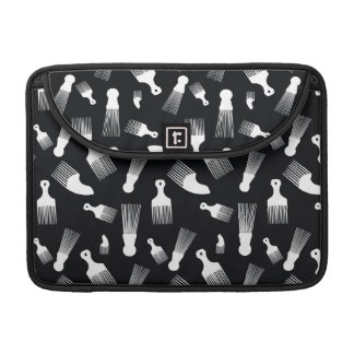 Black and white hair fashion MacBook pro sleeve