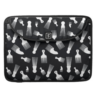 Black and white hair fashion MacBook pro sleeves